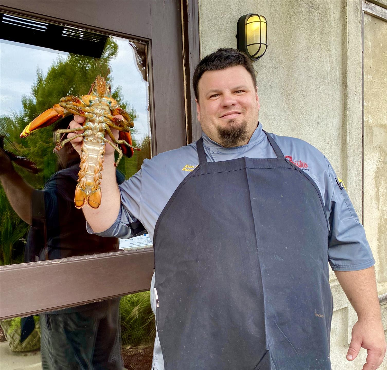Chef Kevin with his Lobster Friend