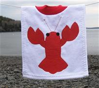 White lobster bib