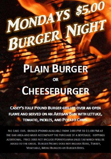 ---- Monday $5 Burger Night (large)