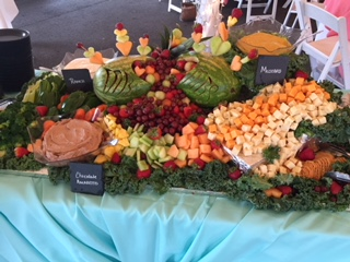 assorted antipasto on a table for catering