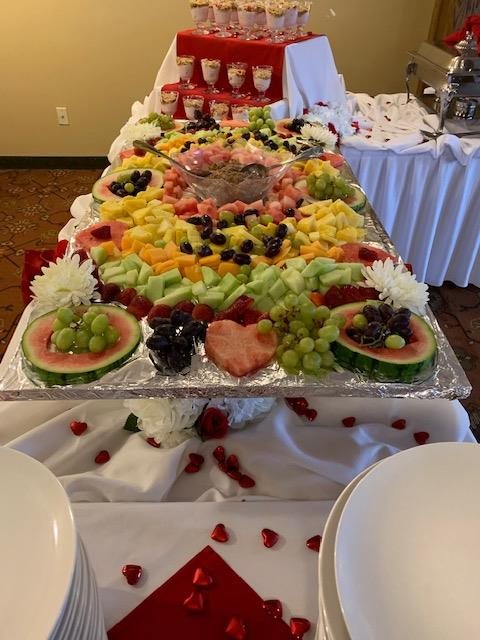 an assorted fruit display for catering