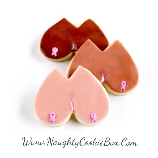 Breast Cancer Awareness Boob Cookies