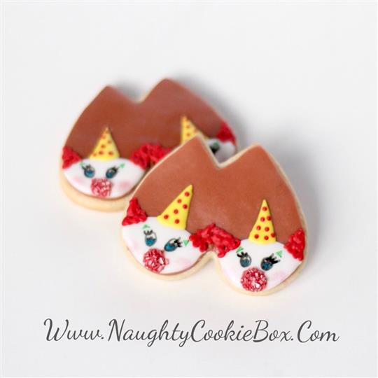 Clown Boob Cookies