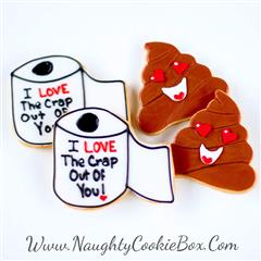 Toilet Paper and Poop Cookies