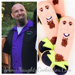 "Personalized ""Look Alike"" Penis Cookies"