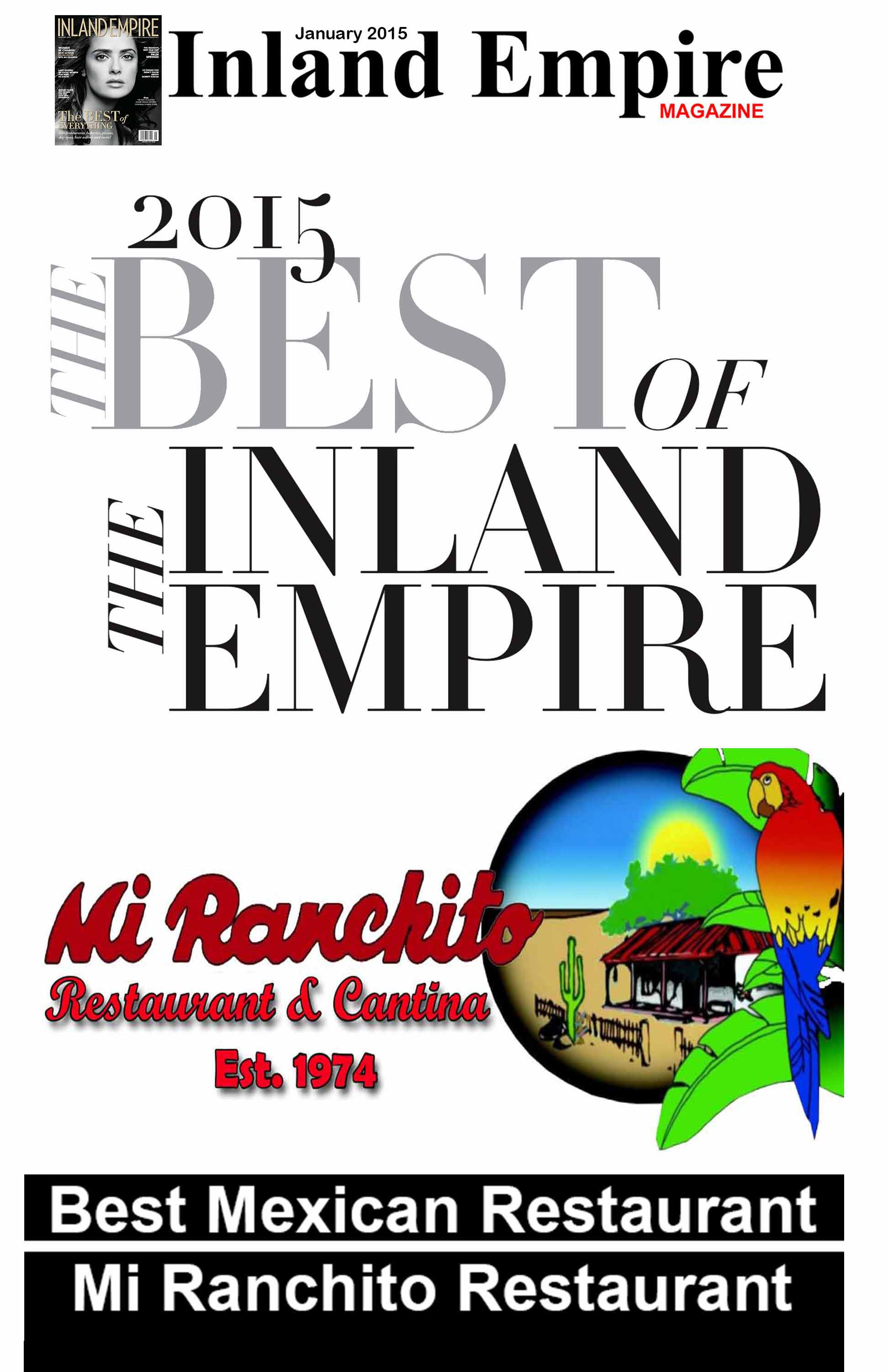 2015 Best of the Inland Empire : Mi Ranchito