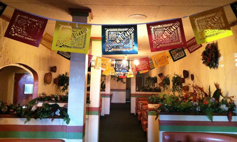 Interior of Chino Location with hanging Jose Cuervo banner