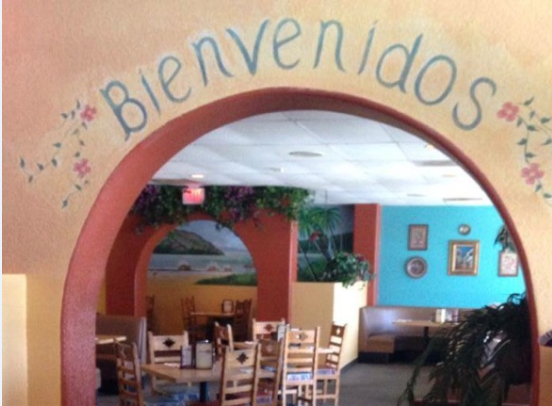 Interior of La Verne Location and 'Bienvenidos' Sign