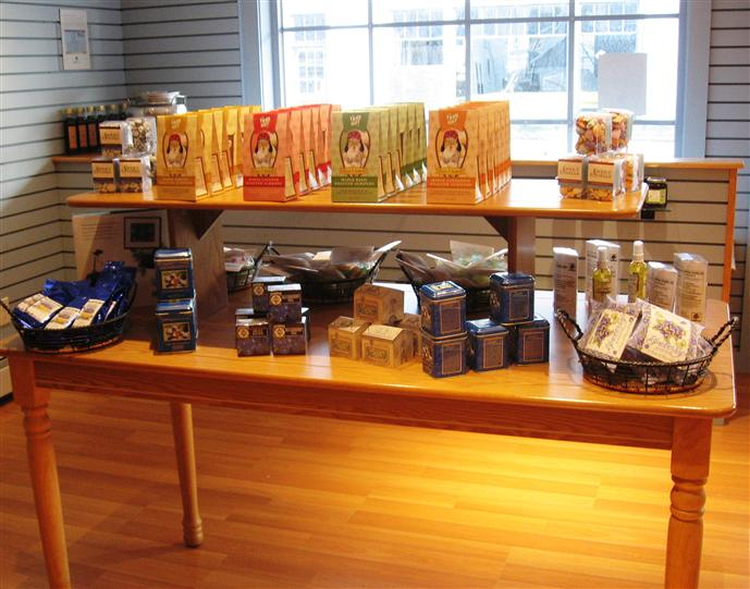 product display on a table