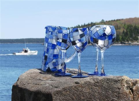 ---- Indigo Blues Product Stemware (large)