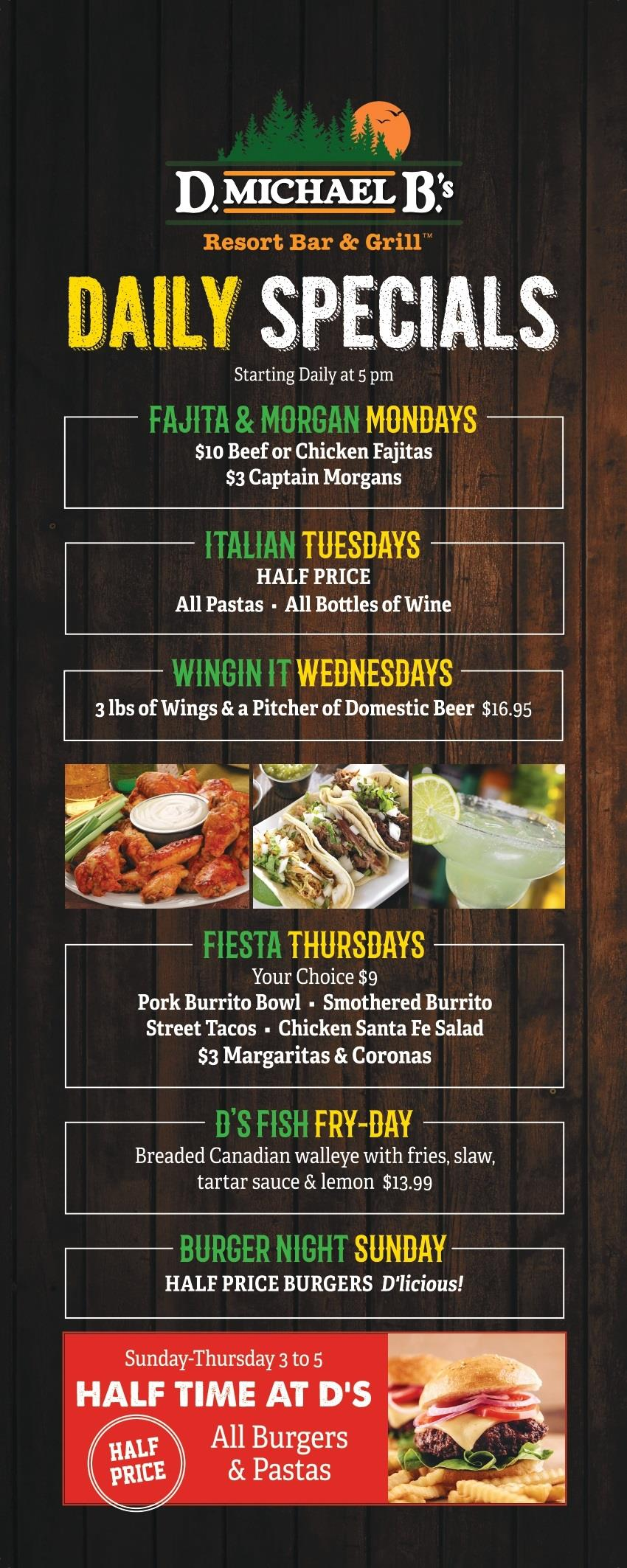 Daily Specials - click for readable PDF