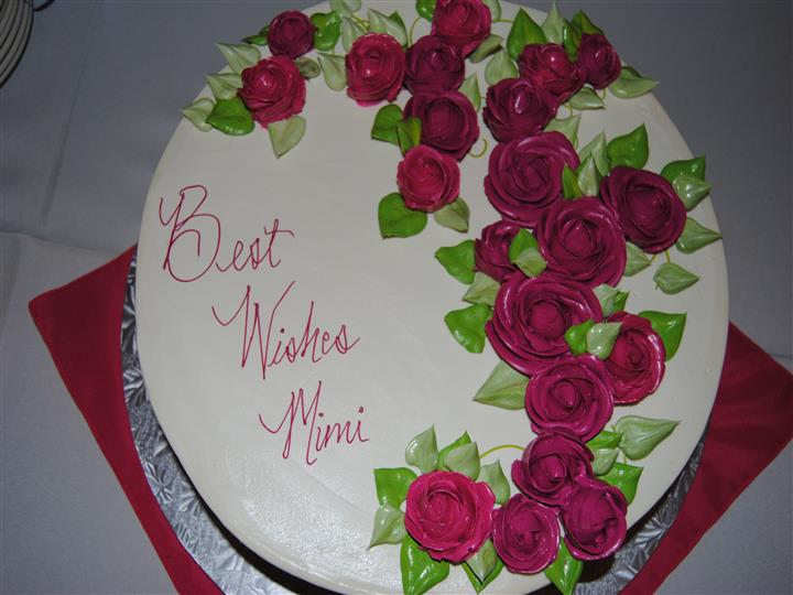 a wedding cake that reads best wishes mimi