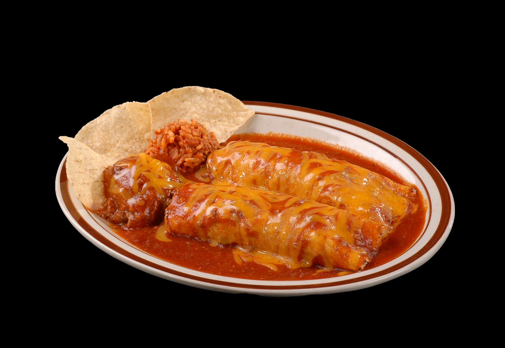 May Special: Enchilada dinner and soft drink