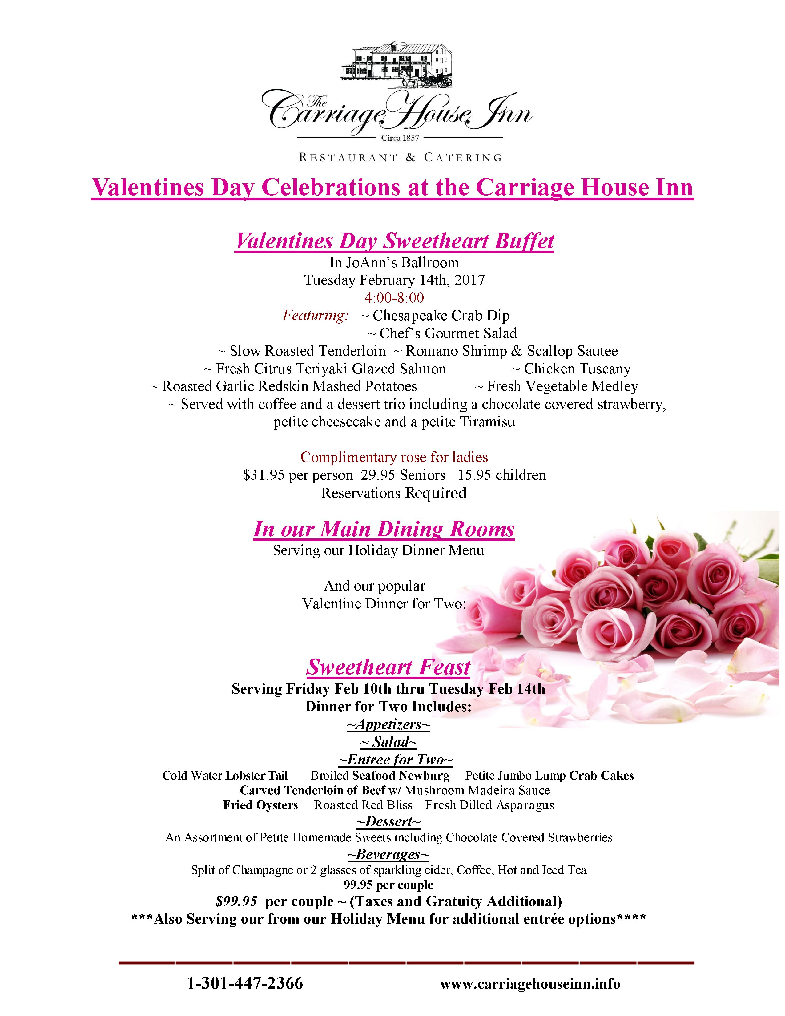 the carriage house inn | restaurant & catering | emmitsburg, md 21727