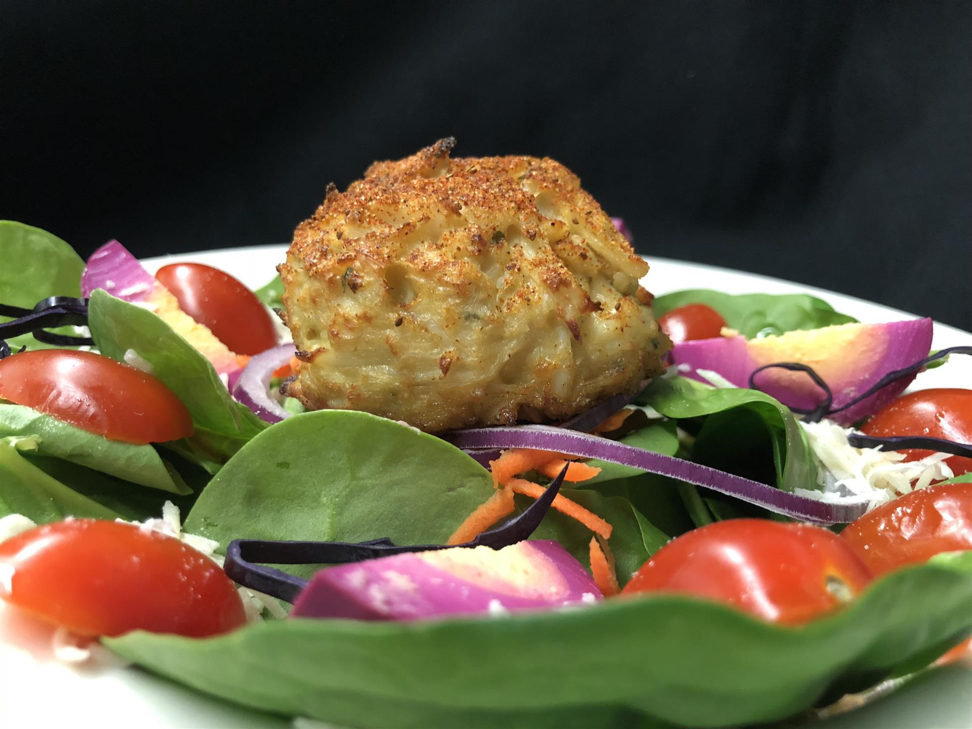 Crab cake Spinach Salad