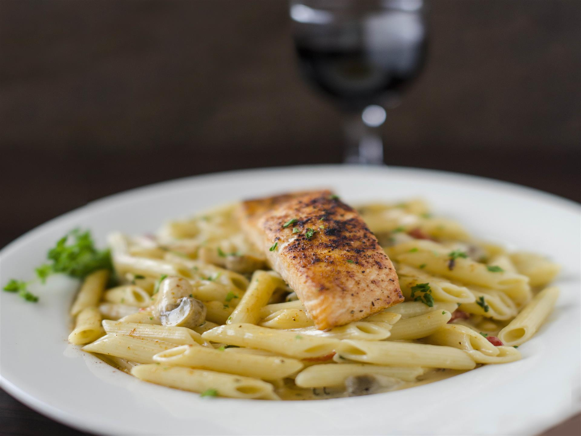 Pasta and Salmon