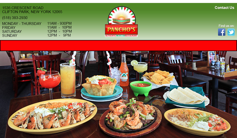 Pancho S Clifton Park Casual Authentic Mexican Food In Ny