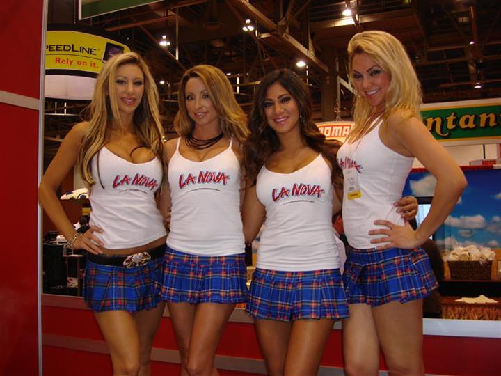 La Nova models posing for photo