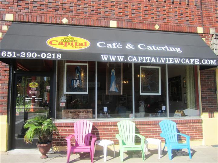 outside front view of capital cafe and catering