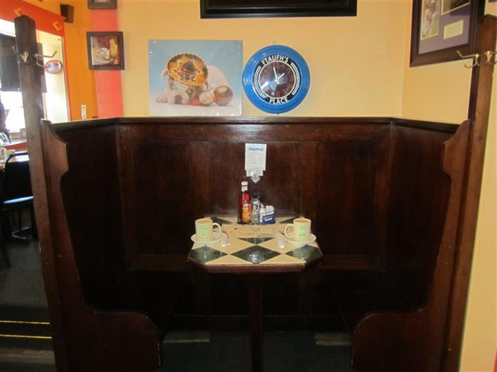 booth inside capital view cafe