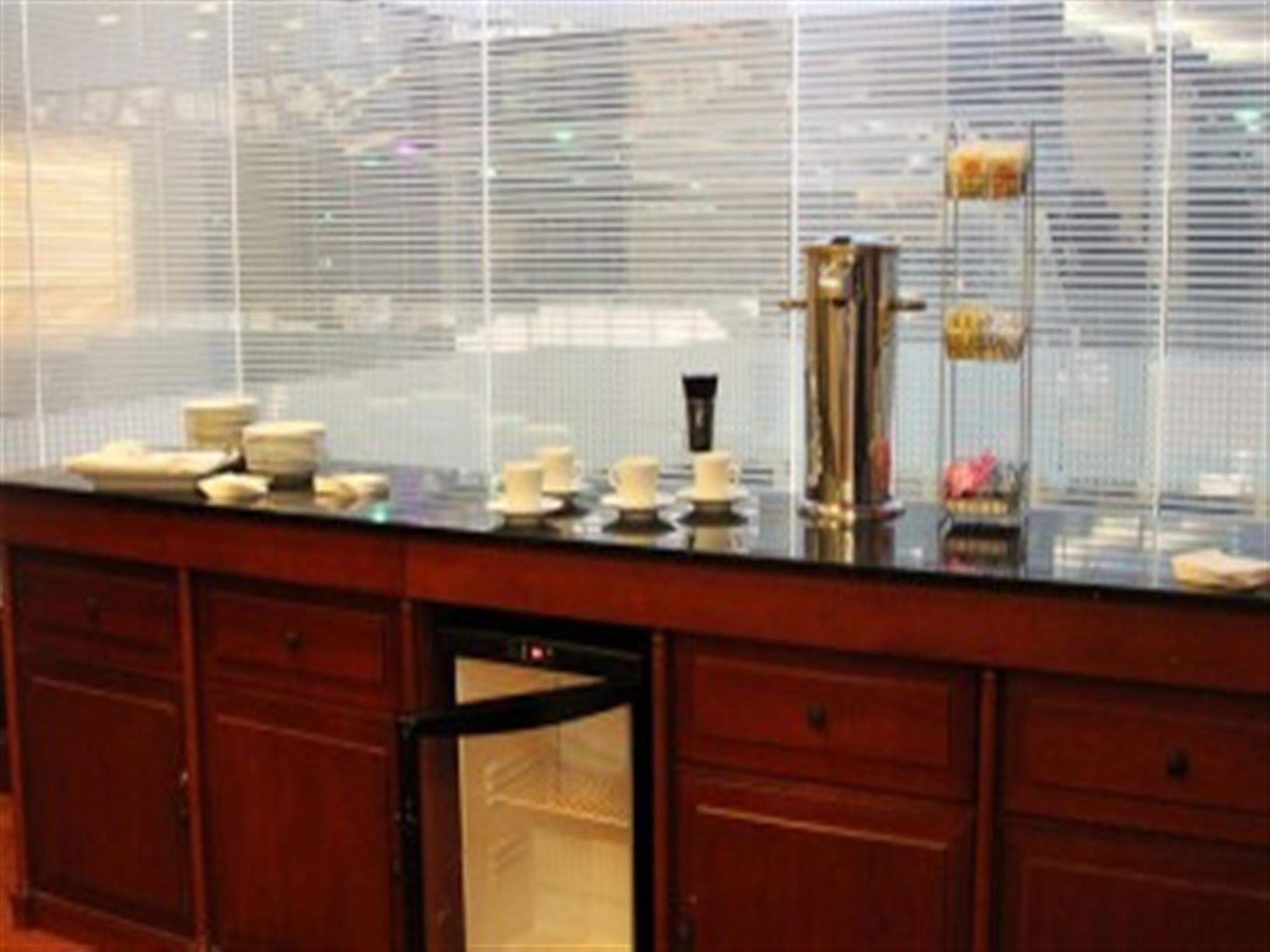 Counter with coffee station