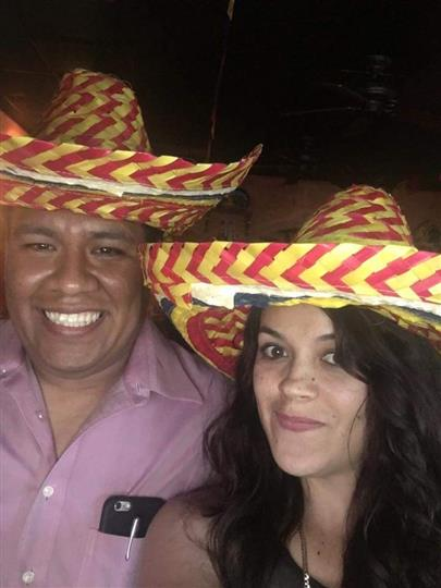 male and female wearing hats
