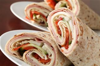 ---- ham or turkey wrap (large)