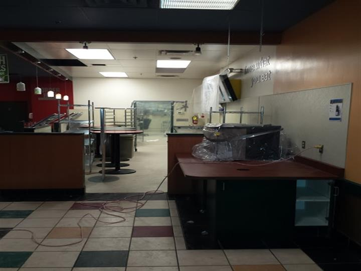Construction of dining area