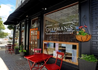Chapman's Food & Spirits storefront and sidewalk