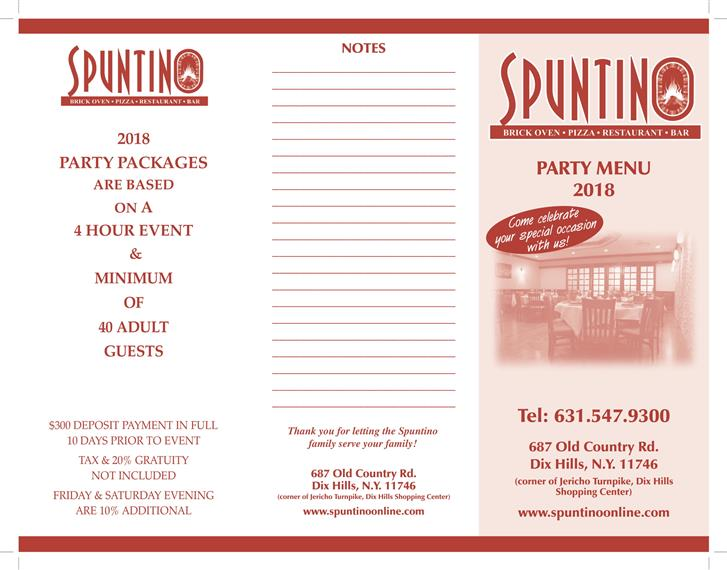 Spuntino Party Packages