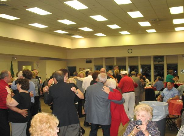 Group of people dancing at event