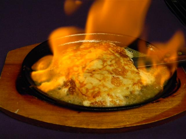 Saganaki - Flaming Cheese - Opa!