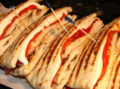 Grilled Chicken, Mozzarella, Roasted Red Peppers