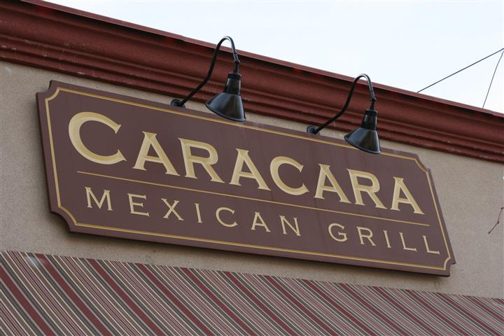 Caracara Mexican Grill outdoor sign