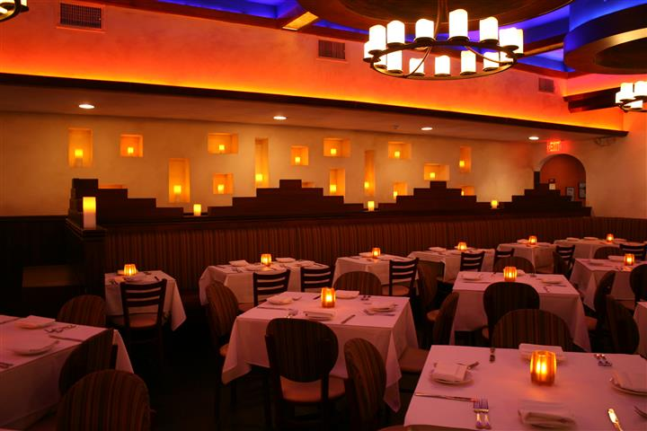 white tablecloth tables with decor lighting fixtures
