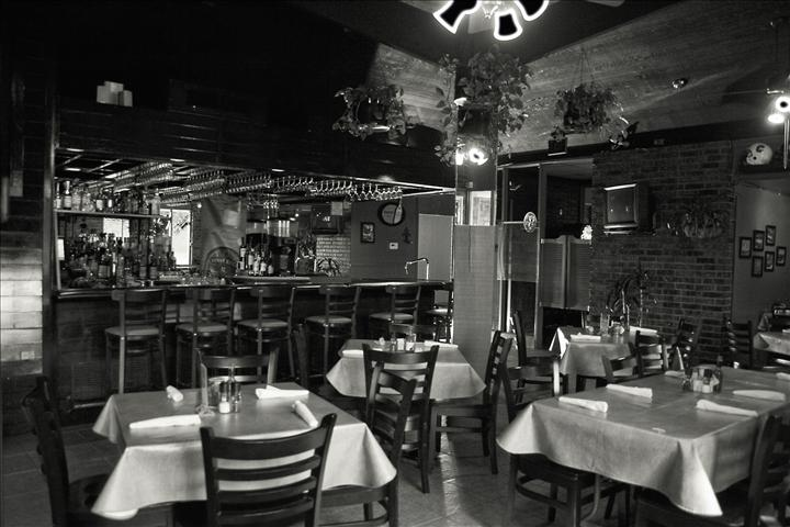 Vintage photo of the inside of the restaurant
