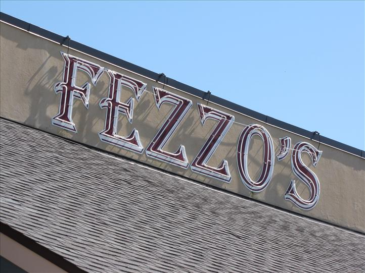 Fezzo's sign outside of business