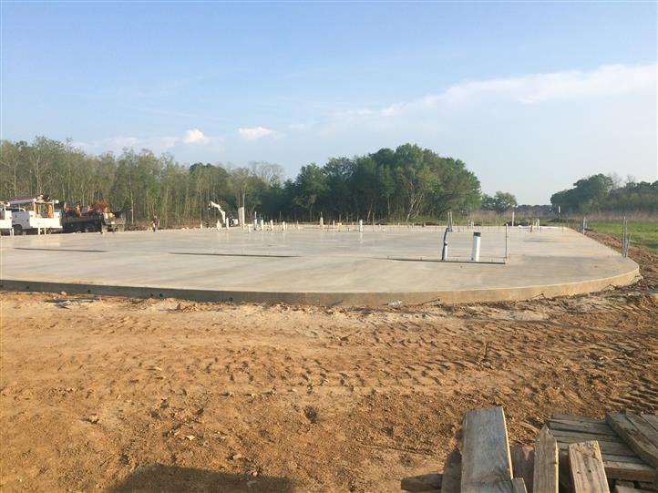 Concrete where restaurant will be built