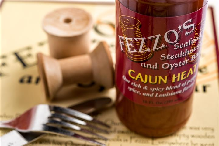 bottle of Fezzo's CAjun hot sauce