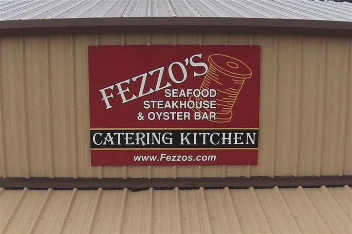 Catering sign on the outside of  building