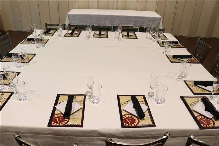 table setting for dinner