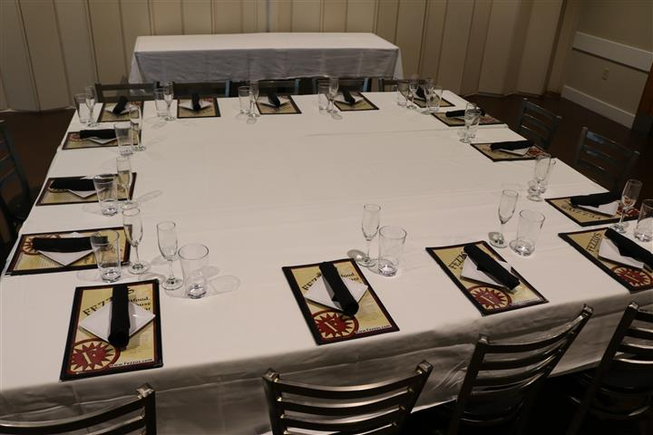 table set for banquet
