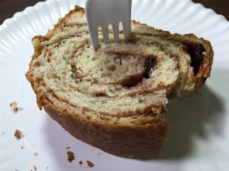 Slice of cinnamon bread