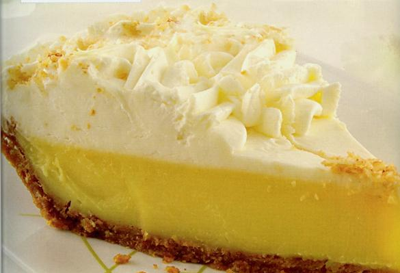 slice of lemon pie with whipped cream