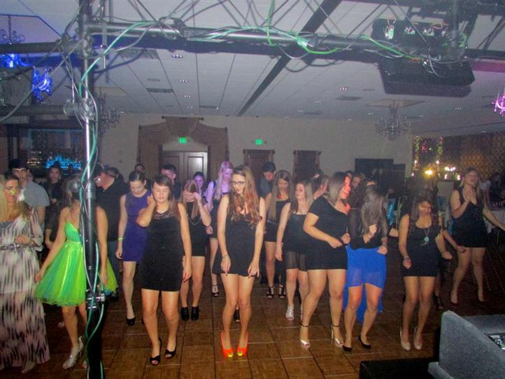 group of females dancing at birthday party