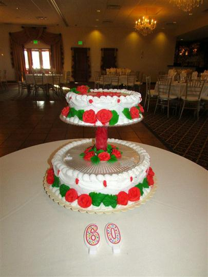 birthday cake with the number 60 on a table