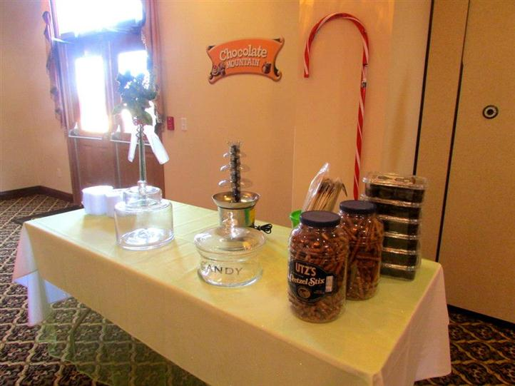 buffet table with empty candy jars