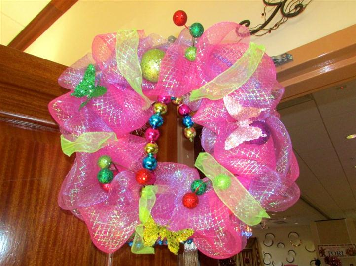wreath decorated with candy