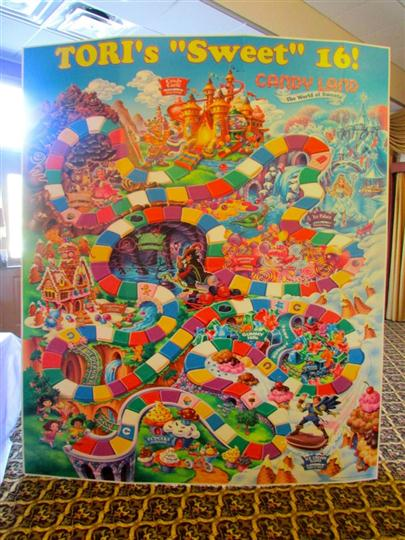 large version of the board game candy land