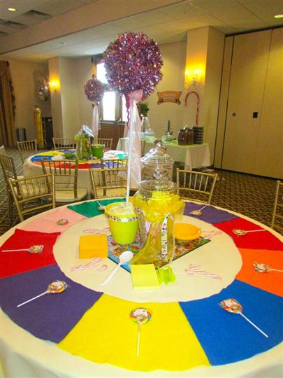 table decorated for sweet 16 birthday party